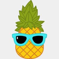pineapple with sunglasses clipart Thumbnail